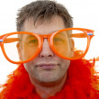 Stock Photo: Portrait of Dutch soccer fan