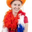 Stock Photo: Dutch soccer fan