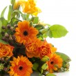 Bouquet of orange flowers — Stock Photo