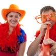 Two Dutch soccer fans — Stock Photo #2950255