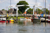 Harbor of Harderwijk, the Neherlands — Stock Photo
