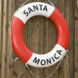 Life buoy of Santa Monica - Stock Photo