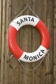 Life buoy of Santa Monica — Stock Photo