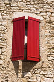 Window with typical french shutters — Stock Photo