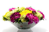 Flower arrangement with Dahlia — Stock Photo