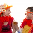 Two Dutch soccer fans — Stock Photo #3042428