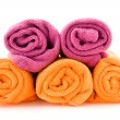 Rolls of colorful towels — Stock Photo #3057979