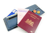 Wallet and Dutch documents — Stock Photo