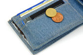 Wallet and money — Stock Photo