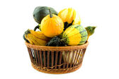 Basket with gourds — Stock Photo