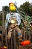 Happy halloween scarecrow — Stock Photo
