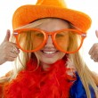 Stock Photo: Female Dutch soccer fan
