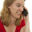 Angry on the phone — Stock Photo