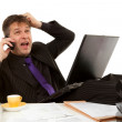 Stock Photo: Businessmin despair