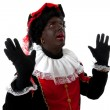 Surprised Zwarte Piet ( black pete) — Stock Photo