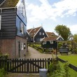 Typical Dutch houses in village Marken — Stock Photo