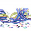 Blue pink colored party streamer — Stock Photo