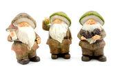 Three stone autumn dolls — Stock Photo