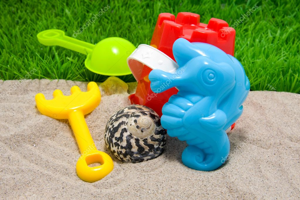 Plastick play toys for beach and vacation   Stock Photo #3144822