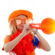 Dutch soccer fan — Stock Photo