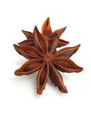 Two whole star anise in closeup — Stock Photo