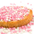 Stock Photo: Rusk with pink mice