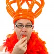 Stock Photo: Dutch soccer supporter
