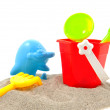 Colorful play toys for beach — Stock Photo