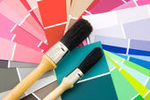Color samples for painting — Stock Photo