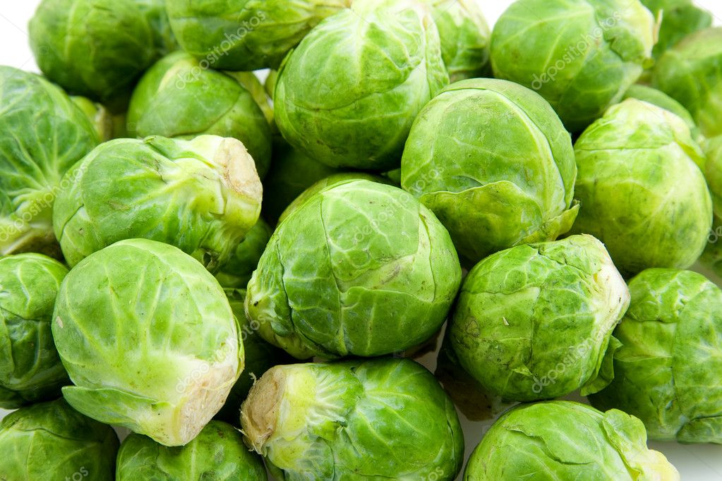 Fresh Brussels sprouts in closeup — Stock Photo #3210568