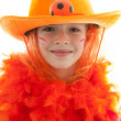 Young dutch soccer supporter - Stock Photo