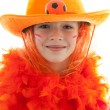 Young dutch soccer supporter — Stock Photo #3265050