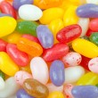 Colorful jelly beans candy in closeup - Stock Photo