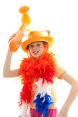 Young dutch soccer supporter — Stock Photo