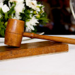 Wooden gavel — Stock Photo
