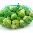 Net with Brussels sprouts — Stock Photo
