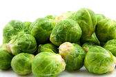 Brussels sprouts in closeup — Stok fotoğraf