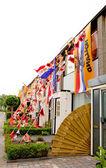 Niederländische dekorierte häuser — Stockfoto