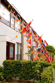 Dutch decorated houses — Stock Photo