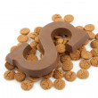 Chocolate letter S and ginger nuts for Sinterklaas — Stock Photo #3480347