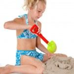 Young girl in beach wear — Stock Photo #3480492
