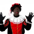 Zwarte piet ( black pete) typical Dutch character — Stock Photo #3480528
