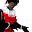 Surprised Zwarte piet ( black pete) typical Dutch character — Stock Photo #3480548
