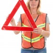 Foto Stock: Womin safety vest