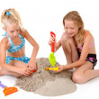 Young girls in beach wear — Stock Photo