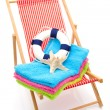 Beach chair — Stock Photo