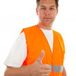Man in safety vest — Stock Photo #3482183