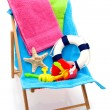 Stock Photo: Beach chair