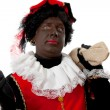 Surprised Zwarte piet ( black pete) typical Dutch character — Stock Photo #3482308