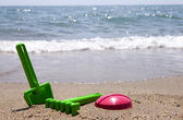 Plastic beach toys — Stock Photo
